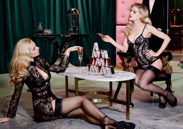 Ashley-Smith-+-Dioni-Tabbers-by-Christian-Larson-for-Agent-Provocateurs-F_W-2014-Lookbookf