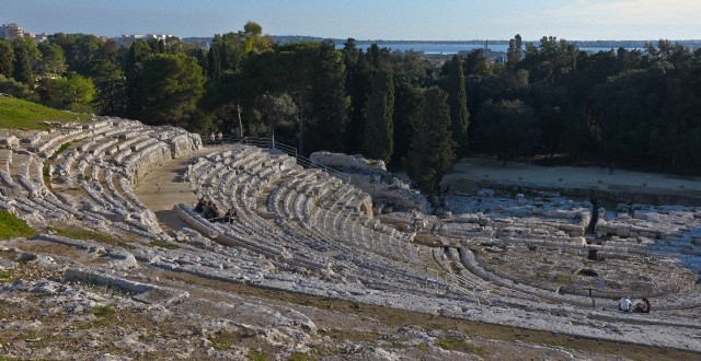 Greek Theater, Archeological excavation site