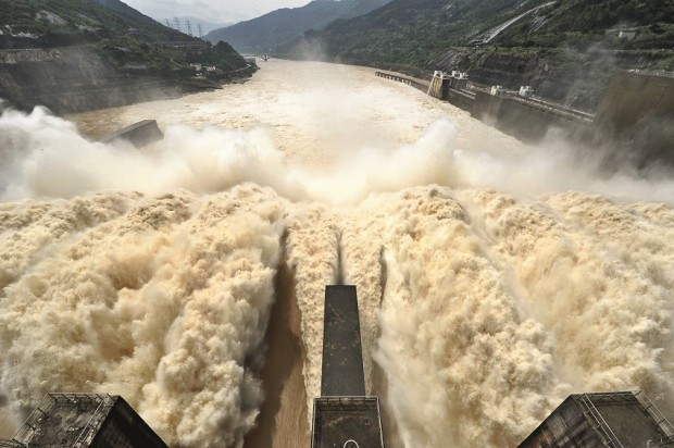 Shuikou Hydropower Station Controlled Flood Discharge